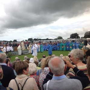 The Gorsedd ceremony taking place outside the Assembly stand.