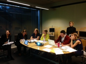 Committee Member Julie Morgan AM and Committee Chair Jocelyn Davies AM taking part in a web-chat with students.