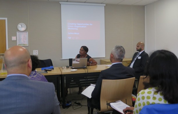 Selina Moyo speaking to delegates at the BME staff event.