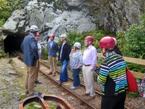 Enterprise and Business Committee visit Lechwedd Slate Caverns