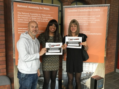 Attendees at the Sparkle event with Stonewall's No Bystanders anti-bullying pledge