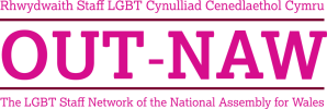 Logo for OUT-NAW, the Assembly's LGBT Workplace Equality Network