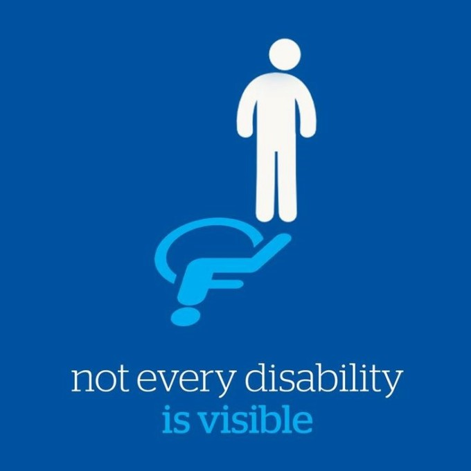 Not every disability is visible image