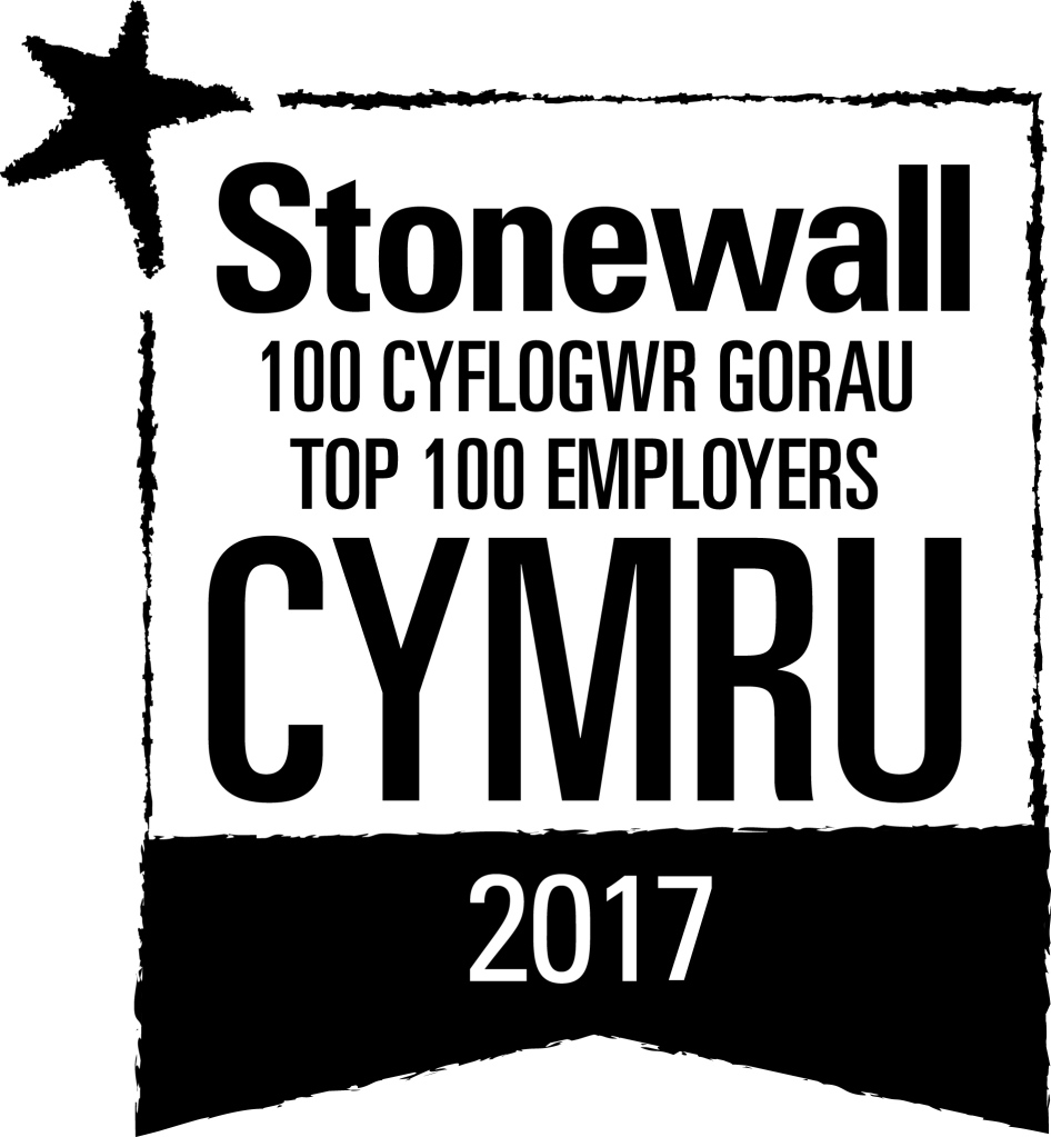 logo for Stonewall's Top 100 employers 2017