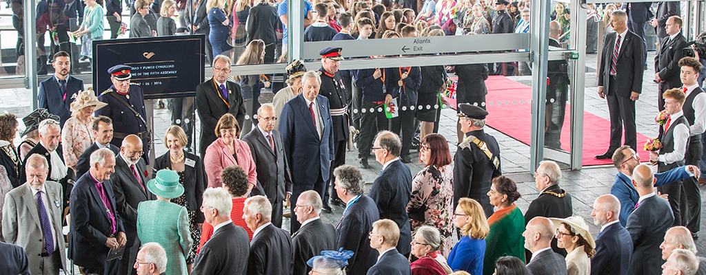 HRH The Queen at the official opening of the Assembly