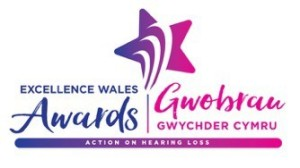 Logo for the Action on Hearing Loss Excellence Wales Awards