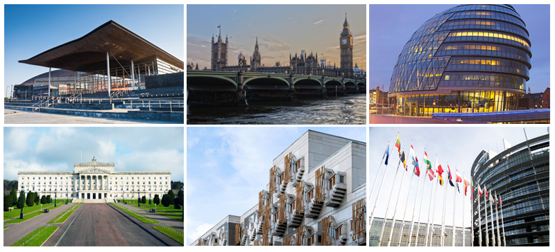 Different legislature buildings