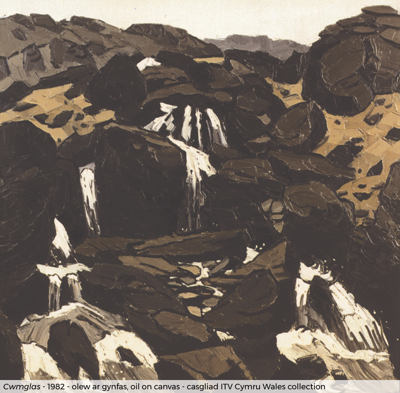 "Kyffin Williams painting ""Cymglas"""