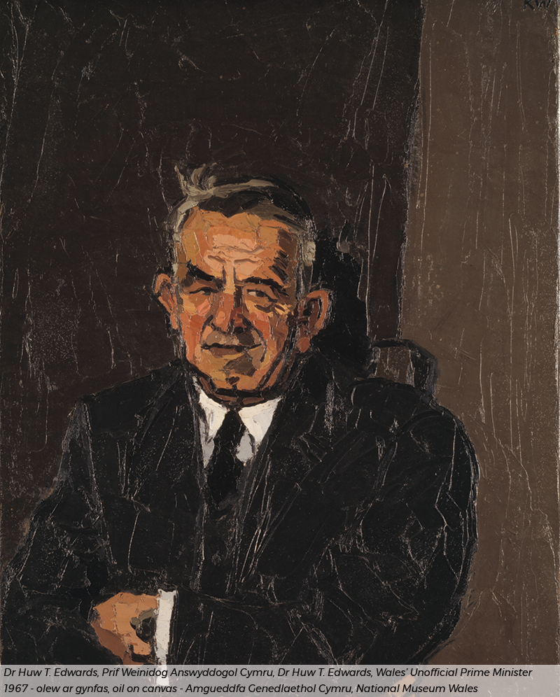 Kyffin Williams painting of Dr Huw T Edwards